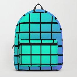 Blue Gradient Patterns Backpack