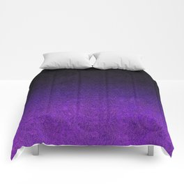 Purple & Black Glitter Gradient Comforters