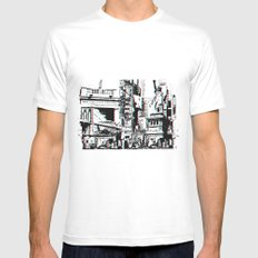 City That Inspires White MEDIUM Mens Fitted Tee