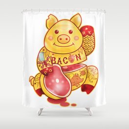 Lucky Pig Shower Curtain