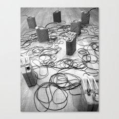 Gas tanks Canvas Print