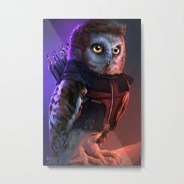 the Owlvengers - hawk eye owl Metal Print