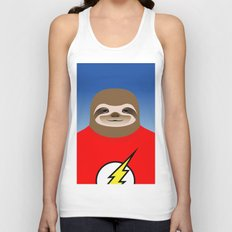 A SLOTH NAMED FLASH Unisex Tank Top