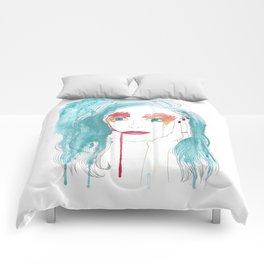 Crying girl. Comforters