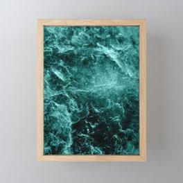 Enigmatic Deep Green Marble #1 #decor #art #society6 Framed Mini Art Print