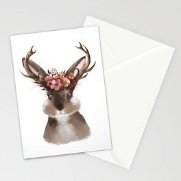 Floral Jackalope Stationery Cards