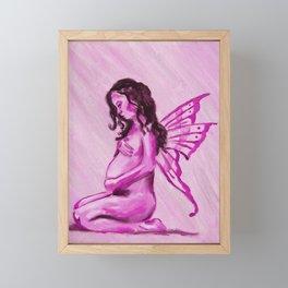 Melancholy (Pregnant fairy) Framed Mini Art Print