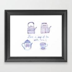 Decorative teapots Framed Art Print