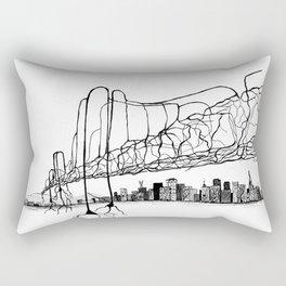 Neuron Bridge Rectangular Pillow