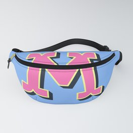 M Initial Letter Fanny Pack