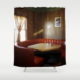 Diner Booth Shower Curtain