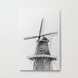 Dutch Windmill | Friesland, The Netherlands | Black & White | Travel Photography | Fine Art Photo Print Metal Print