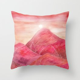 Lines in the mountains XXIII Throw Pillow