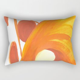 The Caves in Orange and Yellow Rectangular Pillow
