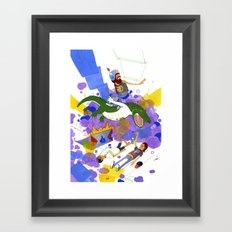 New Record Framed Art Print