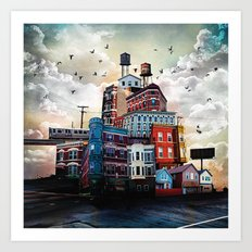 Urban Perspective Art Print