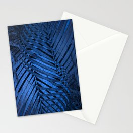 TROPICAL BLUE LEAVES PATTERN Stationery Cards
