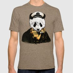 THE CAPTAIN SMALL Tri-Coffee Mens Fitted Tee