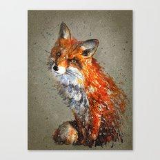 Fox background Canvas Print