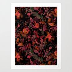 Nightfire Floral Art Print