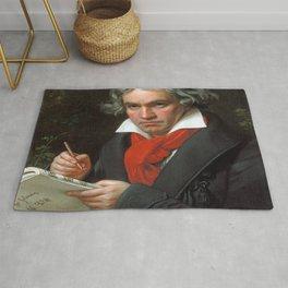 Joseph Karl Stieler - Portrait of Beethoven Rug