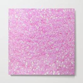 Pink Glitter Metal Print
