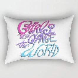 GIRLS MAN. THEY'LL CHANGE THE WORLD Rectangular Pillow