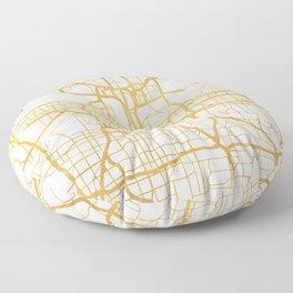KANSAS CITY MISSOURI CITY STREET MAP ART Floor Pillow