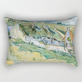 Thatched Cottages and Houses by Vincent van Gogh Rectangular Pillow