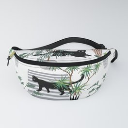 cats in the interior pattern Fanny Pack