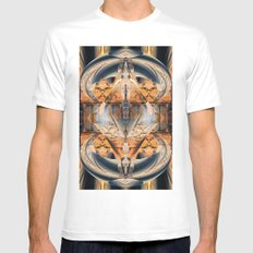 Central Span Mens Fitted Tee MEDIUM White