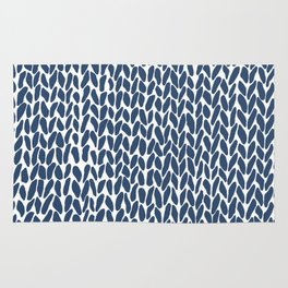 Hand Knit Zoom Navy Rug