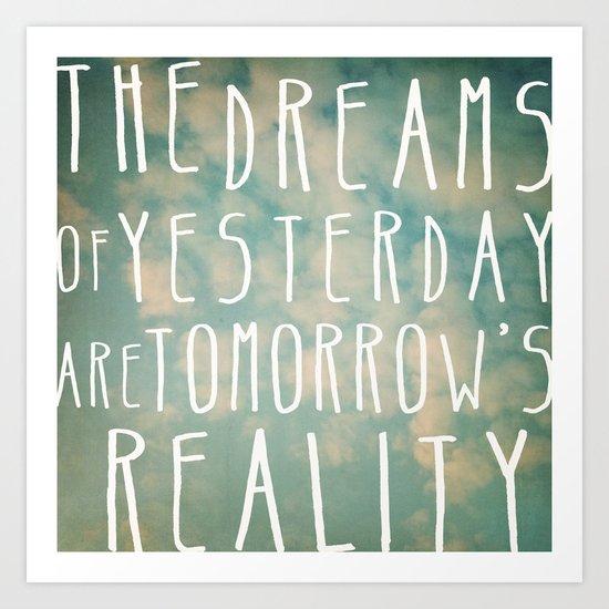 Dreams Of Yesterday Art Print