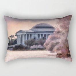 A Cherry Blossom Dawn Rectangular Pillow