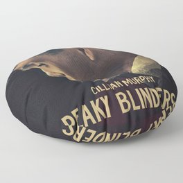 Peaky Blinders, Cillian Murphy, Thomas Shelby, BBC Tv series, gangster family Floor Pillow
