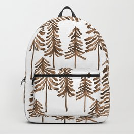 Pine Trees – Sepia Palette Backpack