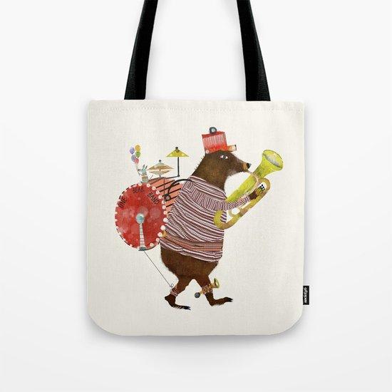one bear band Tote Bag