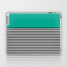 STRIPE COLORBLOCK {EMERALD GREEN} Laptop & iPad Skin