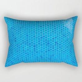 Turquoise Blue Sequins Rectangular Pillow