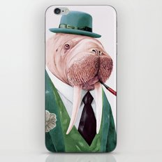 Walrus Green iPhone & iPod Skin