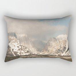 The Shadows of Mountains Rectangular Pillow