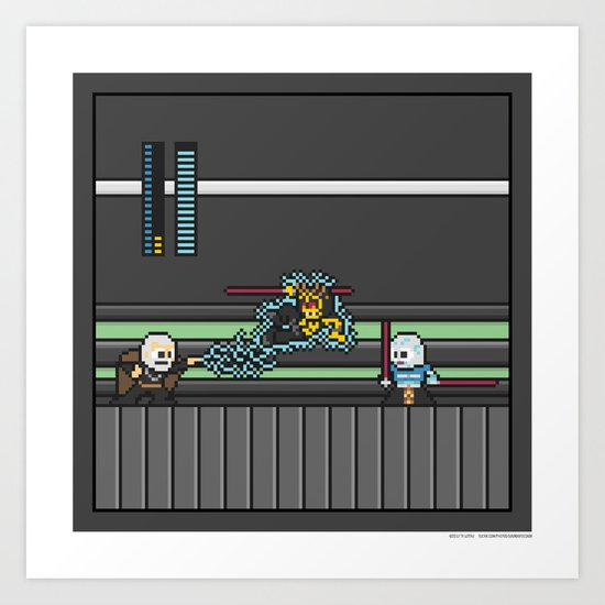 Mega Boss Battles - Dooku vs. Asajj & Savage Art Print