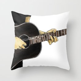 Guitar Playing Man Throw Pillow