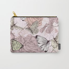 Victorian style classic pattern with butterflies and roses Carry-All Pouch