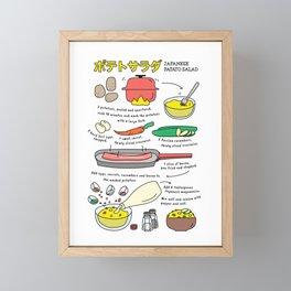 Japanese Potato Salad Framed Mini Art Print