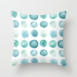Blue Sea Glass Watercolor JUUL Throw Pillow