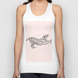 Tiger and Sun I. Unisex Tank Top