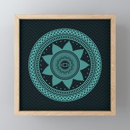 Eye of Protection Mandala Framed Mini Art Print