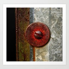 Rusted Washer Art Print