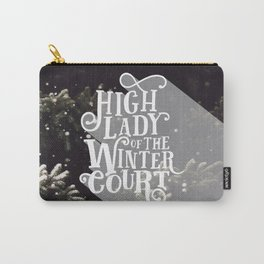 High Lady Winter Court - Snowing Carry-All Pouch
